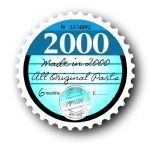 Retro Yr 2000 TAX DISC Replacement Design For Classic Vintage Car External Vinyl Car Sticker 75x75mm